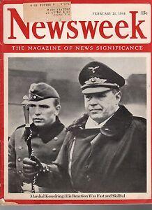 1944-Newsweek-February-21-Nazi-Kesselring-Anzio-Bemelman-Charlie-Chaplin