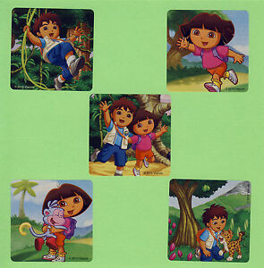 15 Dora The Explorer And Diego Large Stickers Party Favors Ebay