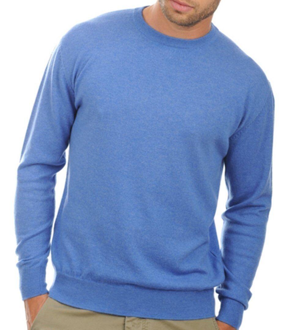 Balldiri 100% Cashmere Herren Pullover Rundhals blau blau blau meliert S | Langfristiger Ruf  255a8c
