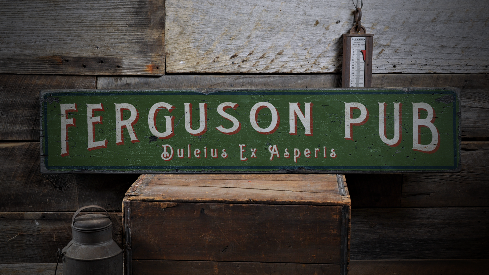 Family Pub, Family Name, Home Rustic Bar, Home - Rustic Home Distressed Wood Sign ENS1000883 ffe0d8