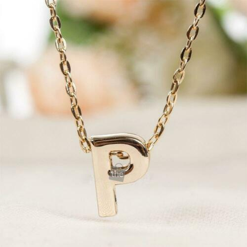 Letters Women Gold Plated 26 Words Initial Stylist Pendant Necklace Alphabet