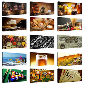 Dettagli su Quadri Moderni Stampa su tela cm 100x50 Quadro Bar Pub Cucina  vino ristorante