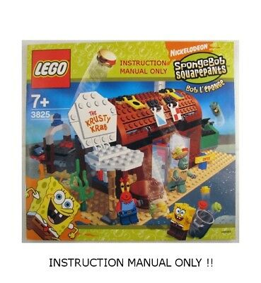 for LEGO 3825 INSTRUCTION MANUAL ONLY Instructions Spongebob Krusty Krab