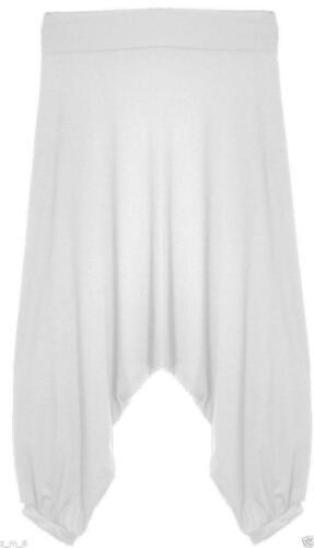 Womens Ladies Crop Drop Crotch Harem Pants Trousers Baggy Alibaba Lagenlook