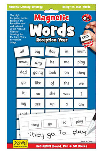 Fiesta Crafts Doowell Magnetic Words for Reception Year NEW