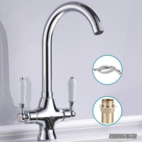 Robinet de cuisine mitigeur lavabo robinet simple//Twin levier mono pivotant