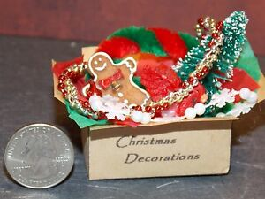 image is loading dollhouse miniature christmas decorations box d 1 12