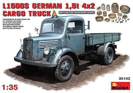Miniart 1 35 35 35 35142  LKW  L1500S German 1,5t 4x2  | Lebensecht  86583a