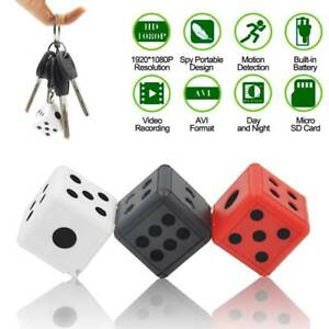 Details about Dice Mini Hidden Camera 1080P Full HD Microphone Spy Hide  Keychain Cam Security