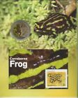 2012 UNC RAM $1 COIN & STAMP MINISHEET CORROBOREE FROG ON CARD