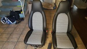 PORSCHE-944-911-951-964-968-85-94-SEAT-KIT-UPHOLSTERY-HOUNDS-TOOTH-G-VINYL-NEW