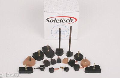 4 2 pair SoleTech High Heel Tips Rubber REPLACEMENT HEEL TIPS Caps Pins Dowel