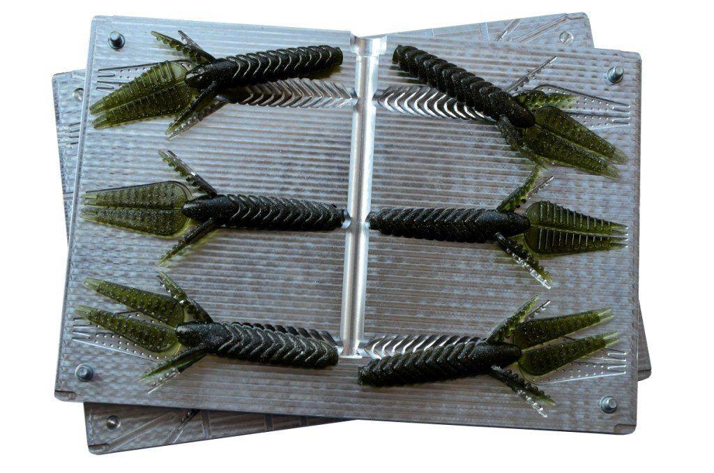 DIY CNC Aluminium Soft Plastic Lure Bait Mold  Why Not Molds 4.4  6 cavity