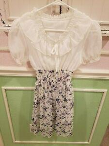 Yesstyle Cute Floral Dress Frills Mini Chiffon Polyester Size S Asia Women