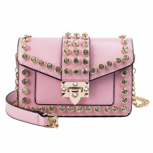Shoulder Bag Fashion Women Diamonds Purse Small Chain Classic Rivet Crossbody