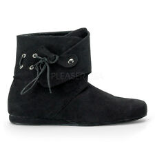 Black Scottish Groomsmen Medieval Peasant Pirate Costume Boots Shoes Mens 12 13