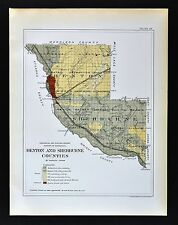 CONFEDERATE STATES 1862 MO MAP STE ST GENEVIEVE FRANCOIS SALINE SCHUYLER COUNTY