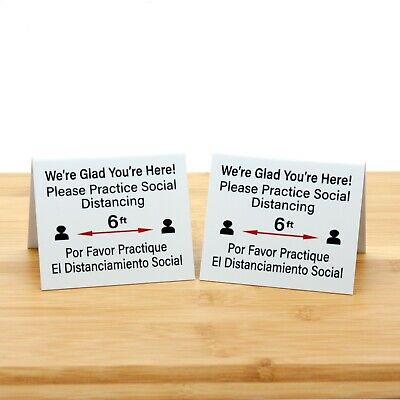 Plastic Table Tents Table Open Signs Clean /& Sanitized 15pk Free Shipping