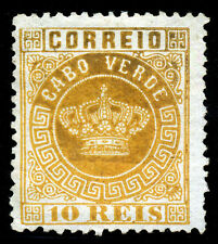 Cape Verde, Portugal. 1877. 10r. Yellow. SC# 2. Perf 12 1/2. MNG