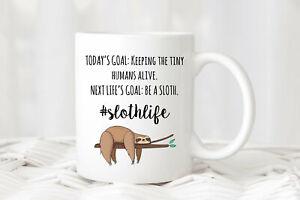 Gifts For Mom Funny Mom Mug Fun Sloth Coffee Cup Busy Mom Gift Birthday