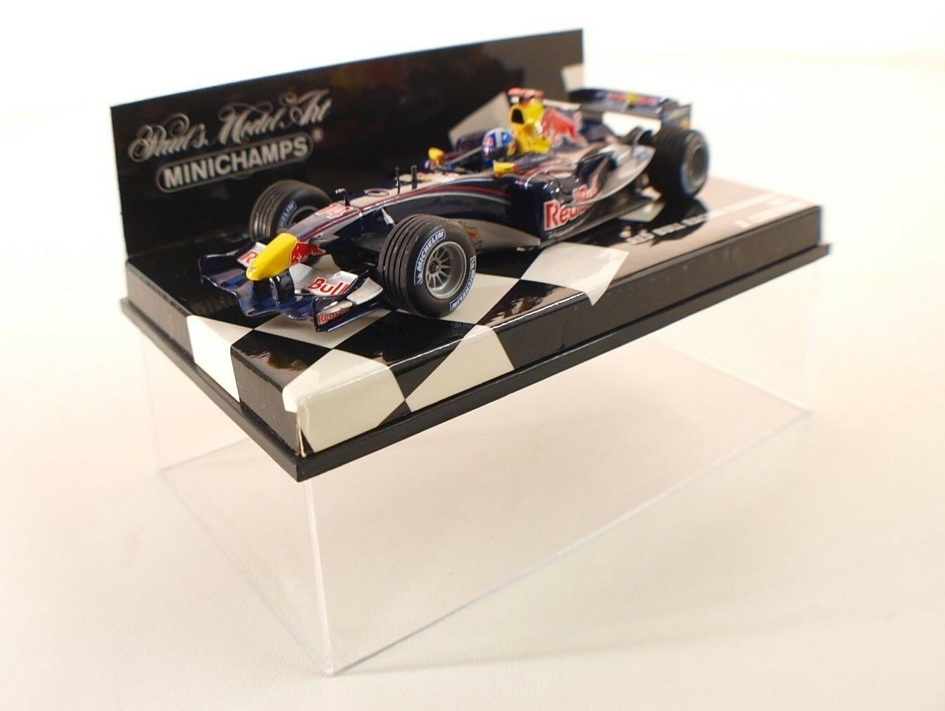 Minichamps F1 rosso Bull Racing Cosworth RB1 Coulthard 1 43 neuf boxed boite MIB