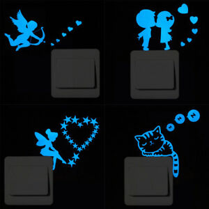 1x Sticker Mural Fluorescent Autocollant Décor Interrupteur Commutateur Chambre