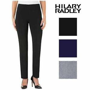 Hilary-Radley-Womens-Slim-Leg-Pull-On-Pant-29inch-Inseam-Waist-Variety-151