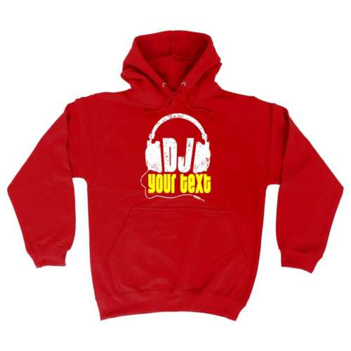 Funny Hoodie DJ Your Text Personalised Disco Rave Party Birthday HOODY