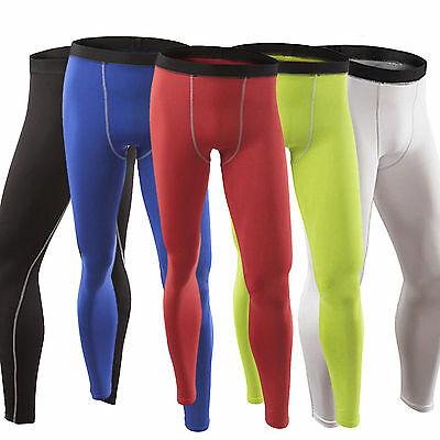 Mens Base Layer Compression Tights Skin Long Pants Thermal Athletic Sport Wear