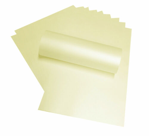 50 A4 OPAL PAPER PEREGRINA MAJESTIC CANDLELIGHT CREAM SHIMMER BOTH SIDES 120SM