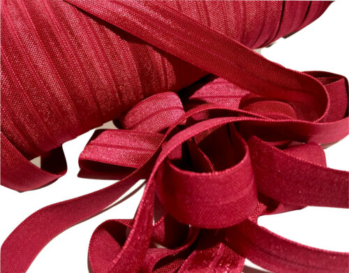 "10 yard light burgundy 5//8/"" fold over elastic FOE DIY baby headbands /& hair ties"
