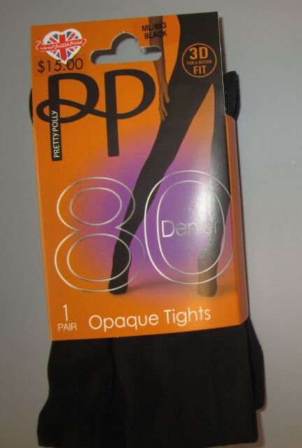 63937b55027 Pretty Polly Ml Black 80 Denier 3d Fit Opaque Tights for sale online ...