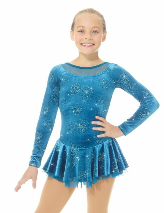 Mondor model 2762 Skating Dress - Teal Daisy