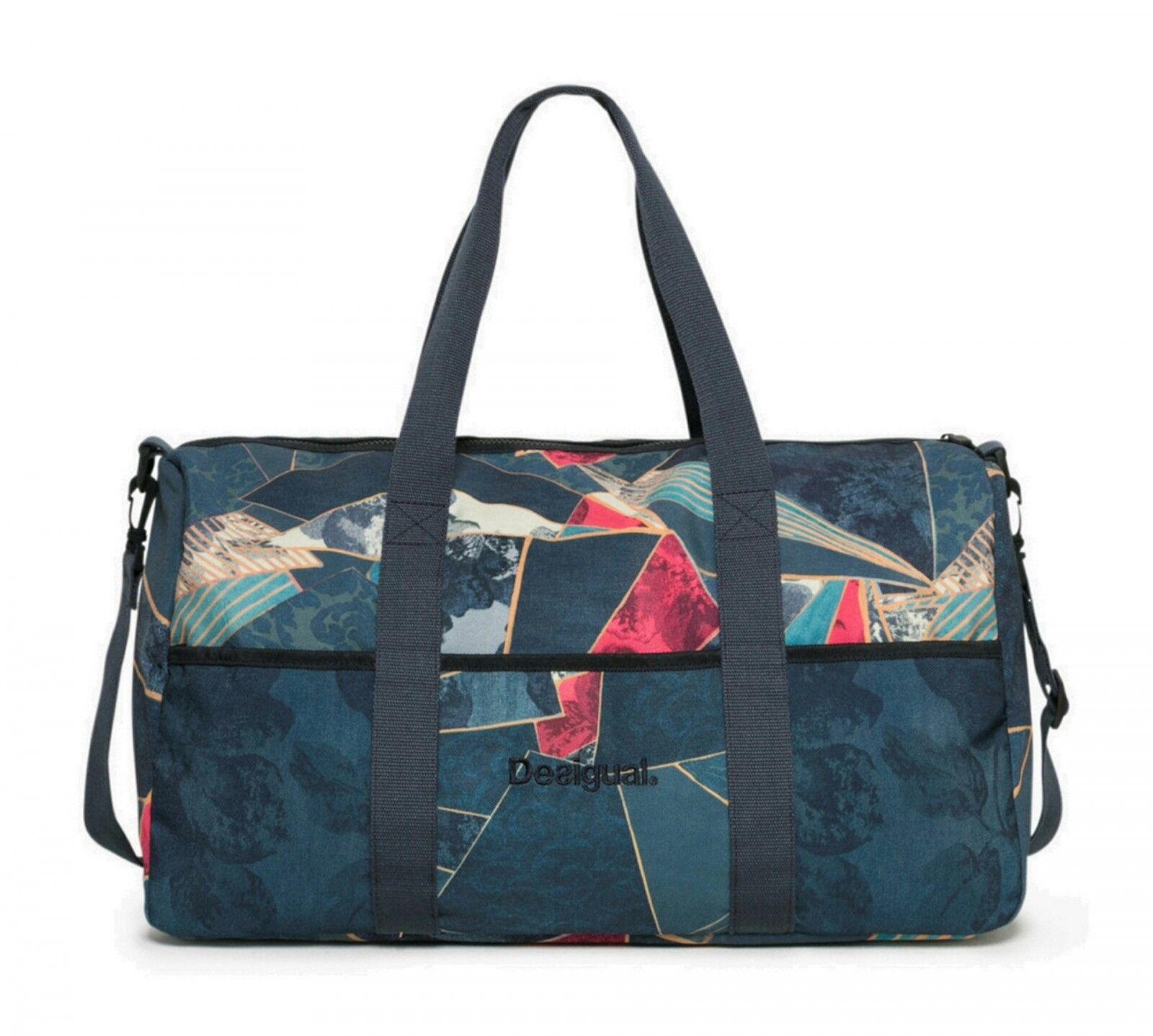 Desigual Bolsa De Deporte Dark Denim Gym Bag