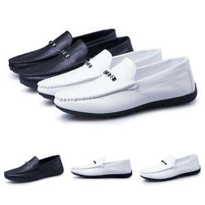 Men-039-s-Slip-On-Moccasins-Leisure-Loafer-Driving-Breathable-Leather-Flat-Shoes
