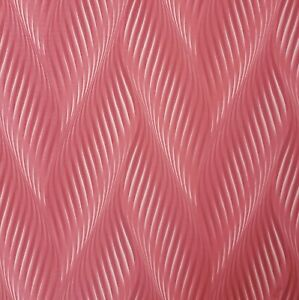Modern-Zig-zag-wave-lines-Red-gold-metallic-faux-fabric-textured-Wallpaper-3D