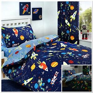 BEDLAM-Supersonic-Glow-in-the-Dark-fusees-spatiales-Housse-de-couette-chambre-collection
