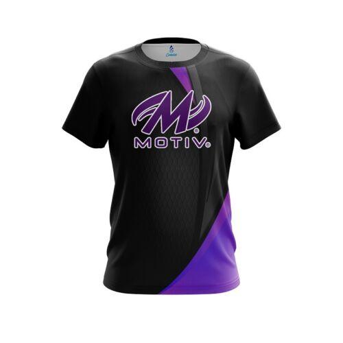 Motiv Carbon Purple Swirl CoolWick Bowling Jersey