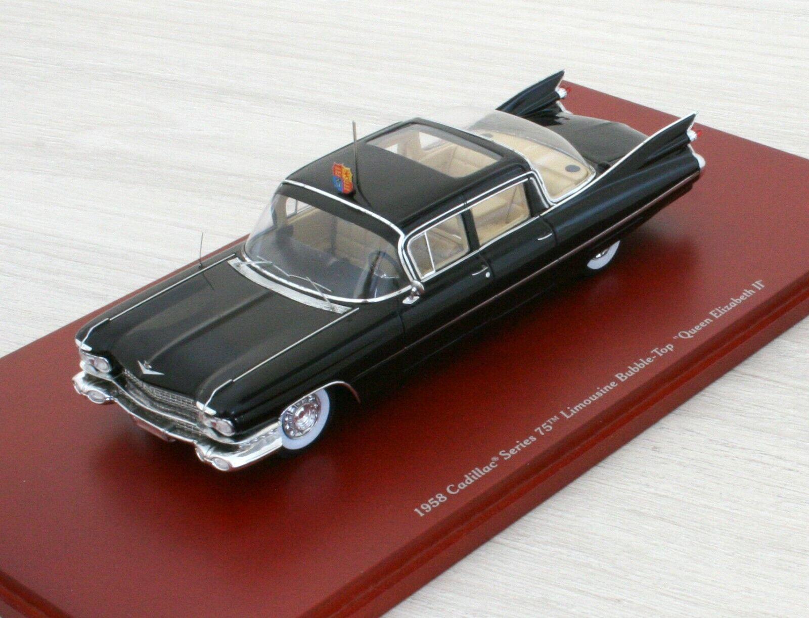 CADILLAC Series 75 Limousine Bubble-Top - Queen Elisabeth II - TRUESCALE - 1 43