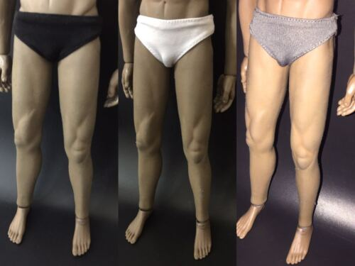 """1//6 Scale Men/'s Grey Panties Model For 12/"""" male Action Figure doll"""