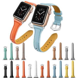 Leather-Watch-Band-Strap-Bracelet-for-iWatch-Apple-Watch-Series-3-2-1-38mm-42mm