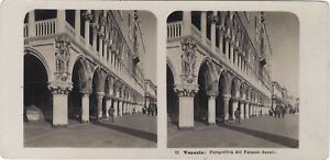 Venezia Palais Ducale Italia Foto Stereo Vintage Analogica