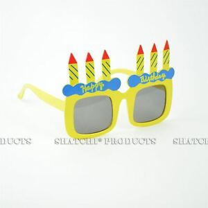 Happy-Birthday-Cake-Candle-Glasses-Clear-Novelty-Fancy-Costume-Party-Accessories