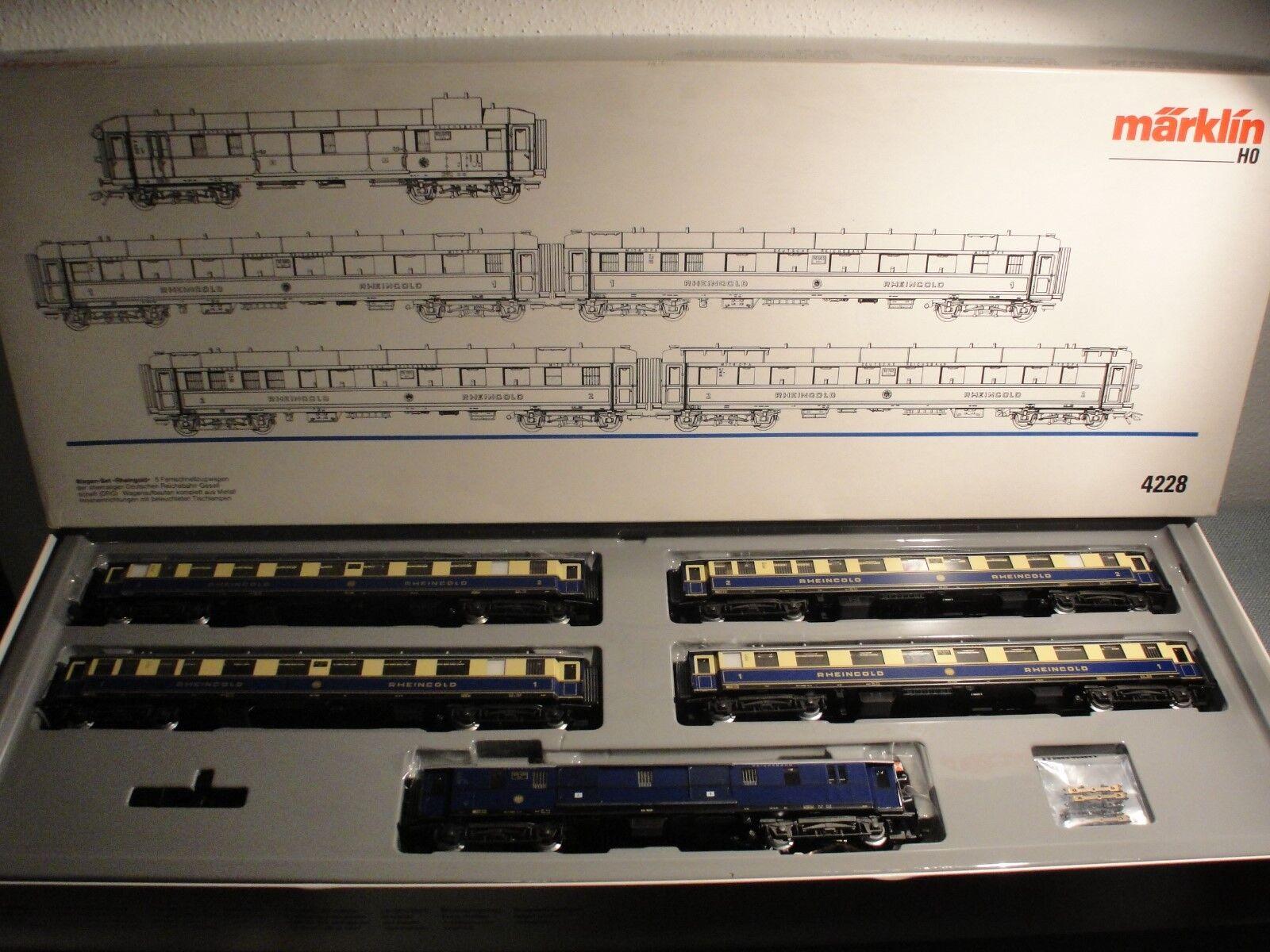 Märklin HO 4228 Personenzug-Set  Rheinorowagen DRG  TOP unbenutzt NEU OK