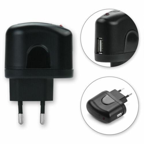 Cargador USB para Panasonic Lumix dmc-gx80n fuente de alimentación enchufe de pared 1a