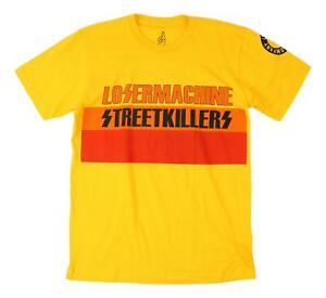 Loser-Machine-Mens-Street-Killerz-S-S-T-Shirt-Yellow-M-New