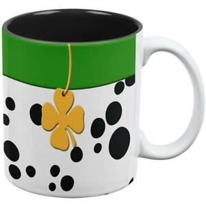 86ae180d8 St Patrick's Day Dog Dalmatian Green Collar Shamrock All Over Coffee ...