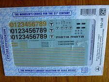 Microscale Decal HO #87-751 MBTA Loco & Pass car (Decal Sheet)