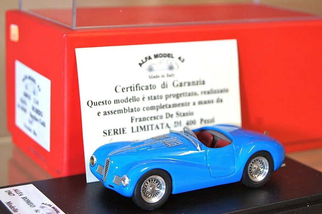FDS ALFA MODEL 43 1947 ALFA ROMEO 6C 2500 SPYDER COLLI blueE NEW ar