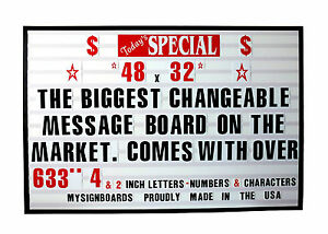 changeable letter signs new big changeable letters window message menu board price 17455